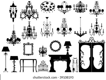 Fireplace silhouette stock images royalty free images for Nicholas sparks black mountain furniture collection