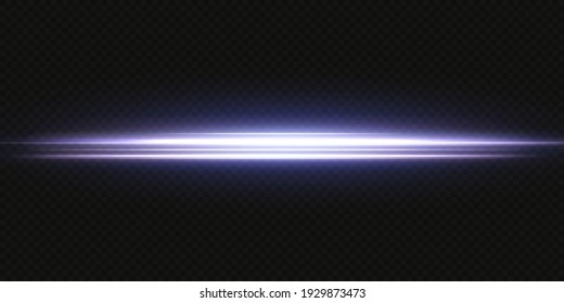 Collection effect light blue line png. Neon horizontal light line. Laser beams, horizontal blue light rays.Beautiful neon light flares. PNG. Collection effect  blue line png.