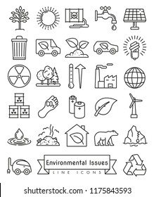 Collection of Environment and Climate related vector icons
