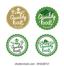 Collection farm food logos