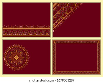 Collection of festive vector backgrounds or cards.
