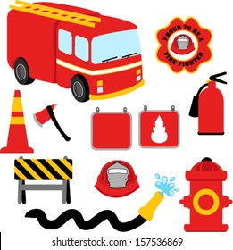 Collection of Firefighter / Fireman Symbols