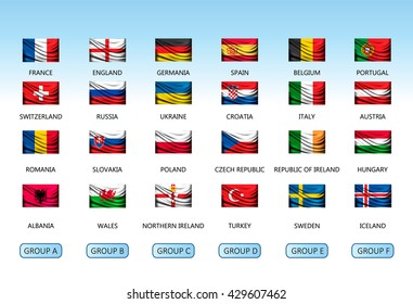 European countries flags vector collection your stock vector collection of flags of countries vector freerunsca Image collections