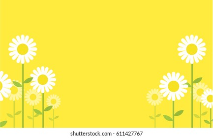 Collection of flower spring backgrounds vector art