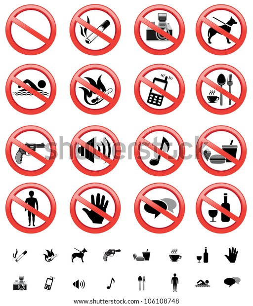 image relating to Printable Versions named Choice Forbidden Signs and symptoms Quite a few Printable Styles Inventory