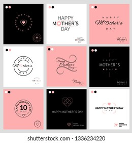 collection of fun and elegant mothers' day logos