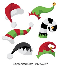 A collection of fun holiday hats  EPS 10 vector