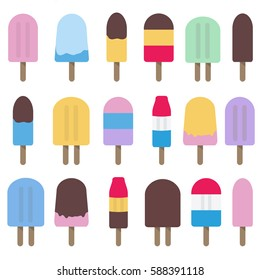 Collection of Fun Popsicle Vectors