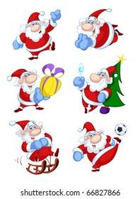 collection of fun santa cartoons