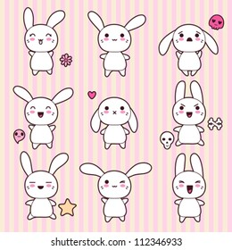 Set Rabbit Stock Vectors Images Vector Art Shutterstock