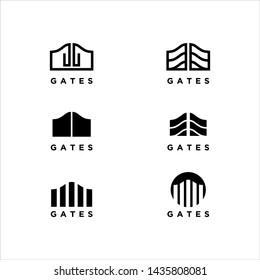 collection of gate logos stock design