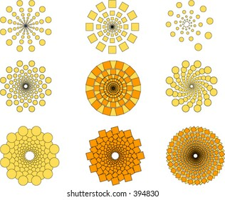 A collection of geometric patterns