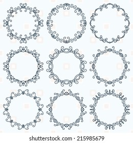 collection of graphic ornamental frames