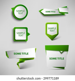 Collection green web pointers design template