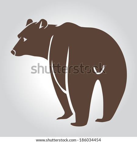 c6ea0170b06c1 Collection Grizzly Bear Icons Vector Illustration Stock Vector ...