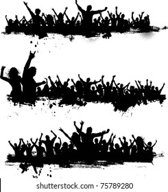 Collection of grunge crowd scenes