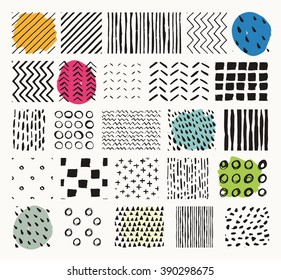 Collection of handmade semaless textures. Perfect as background for greeting cards, business cards, covers, and more. Everything made by hand.