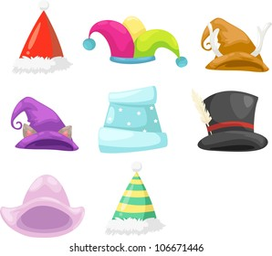 Collection hat vector