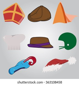 Collection of hats easy to adjust as you need
