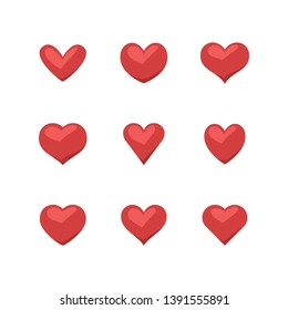 Collection of heart illustrations, set of hearts, love symbol
