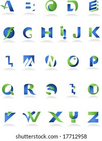 collection of icons, alphabet