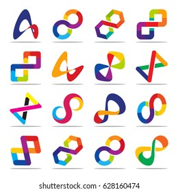 Collection of icons for infinity symbols
