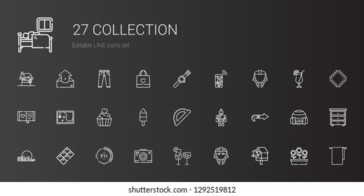 Fabric Icons Set Collection Fabric Detergent Stock Vector