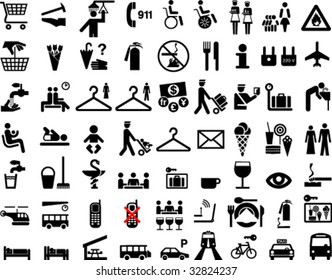 Collection of icons or symbols