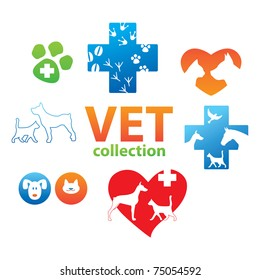 Collection of icons - Veterinary Medicine