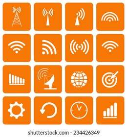 Collection icons for web and mobile apps. Vector illustration.