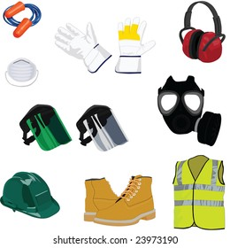 A Collection of Industrial Safety Gear