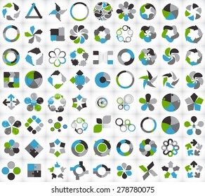 Collection of Infographic Templates for Business Vector Illustration EPS10