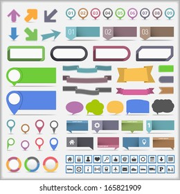 Collection of infographics design elements, vector eps10 illustration