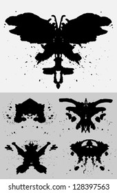 Collection of Inkblots inspired by the famous Rorschach Test