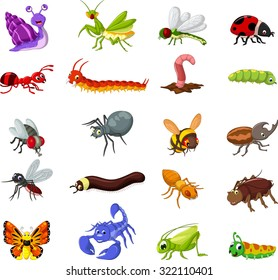 collection of insects cartoon for you design