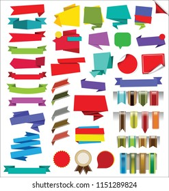 Collection of Labels Stickers Banners and Tags vector design