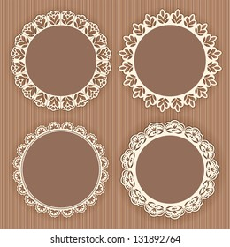 Collection lace frames. Vector illustration.