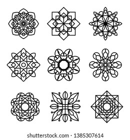 Collection of Linear mandala background