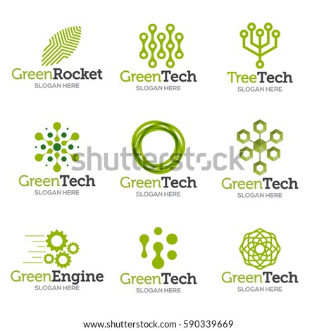 collection logo templates vector abstract shapes のベクター画像素材