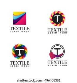 A collection of logos for decor. Textile icon. Decoration logo. Interior logo. Boutique logo. Textile boutique logo.