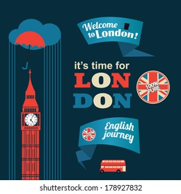 collection of London stickers