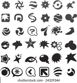 collection of many black abstract icons - 6. To see similar, please visit MY GALLERY
