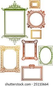 Collection of many vintage picture frames, To see similar, please visit MY GALLERY