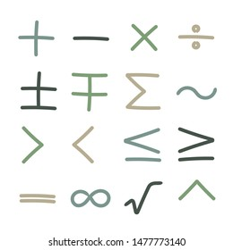 collection of mathematical signs