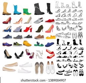collection of men's and women's shoes