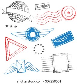 A collection of mixed high quality Passport Stamps Designs.