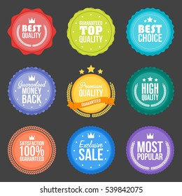 Collection of modern, flat design styled labels and design elements. Vector illustration.