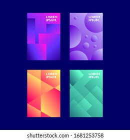 collection Modern gradient template background