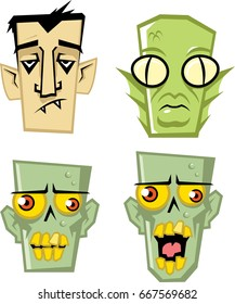 Collection of monster faces