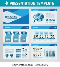 collection of multipurpose presentation template.icons Infographic element.company advert marketing concept.abstract blue polygon flyer layoutbrochure modern style.flat leaflet illustration.